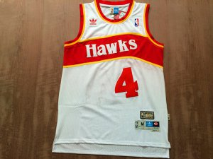 Buy Online Cheap Atlanta Gear Hawks #4 Spud Webb white Swingman Throwback JWQ382