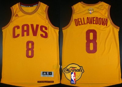 Cheap Cleveland Cavaliers #8 Matthew Merchandise Dellavedova 2016 The Finals Patch Yellow VYE302