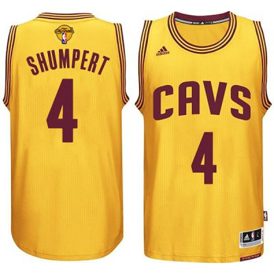 Cheap Online Sale Cleveland Cavaliers #4 Iman Shumpert 2015 Basketball 16 Finals Gold IRN283