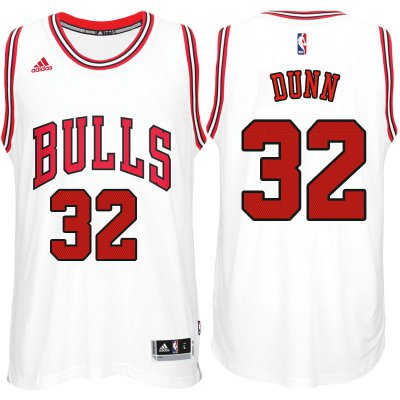 Cheap Quality Chicago Bulls #32 Apparel Kris Dunn 2017 18 Home White Swingman ZTP664