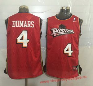 Cheap Quality Detroit Pistons #4 NBA Joe Dumars Red Hardwood Classics Soul Swingman Throwback WLD1388
