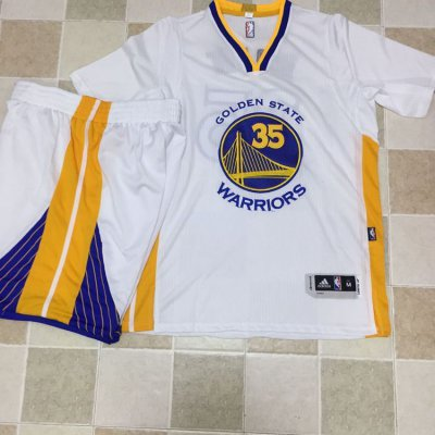 Cheap Sale Warriors #35 Kevin Durant Merchandise WhiteA Set Stitched EHY4254