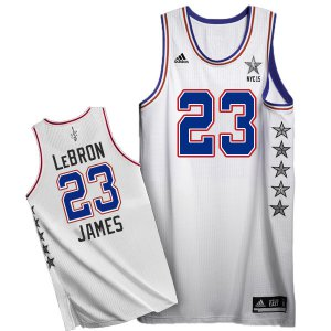 Cheap price 2015 All Star NYC Eastern Conference #23 LeBron James Apparel White NJI159