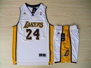 Comfortable Revolution 30 Los Angeles Lakers #24 Kobe Bryant Swingman Basketball White Road Rev Basketball Suits CBW4529