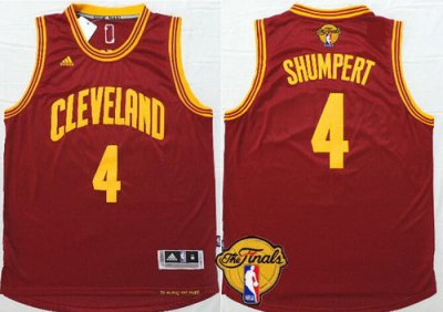 Discount Buy Cleveland Cavaliers #4 Iman Shumpert 2016 Apparel The Finals Patch Red JOZ288