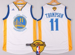 Famous brand Golden State Warriors Jersey #11 Klay Thompson White 2016 The Finals Patch WFD7