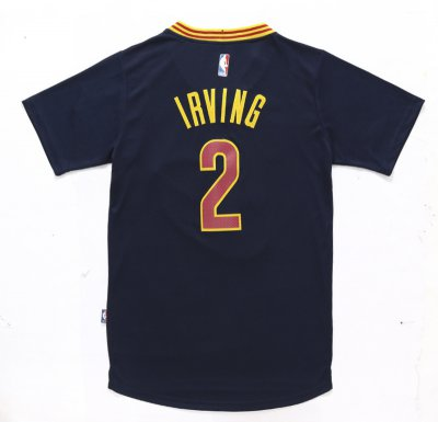 Fashion #2 Irving Cleveland Cavaliers Clothing with sleeve CXV1072