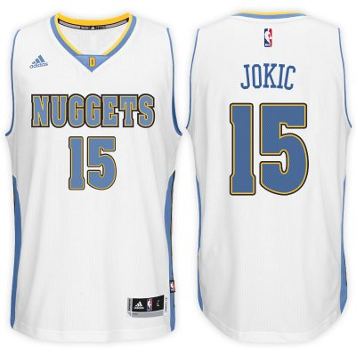 For Sale Denver Nuggets #15 Nikola Jokic 2016 17 Home White Gear Swingman RQD1315