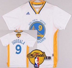 Full of charm Golden State Warriors #9 Andre Iguodala White Short Jerseys Sleeved 2016 The Finals Patch PSG43