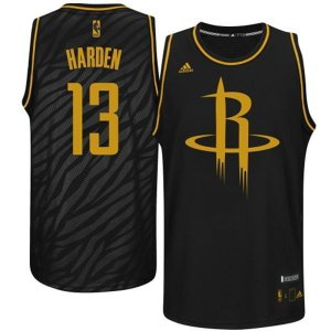 Good work Mens Houston Rockets James Harden Black Precious NBA Metals Swingman LQZ1928