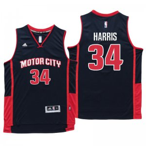 Guarantee Quality Detroit Basketball Pistons #34 Tobias Harris Motor City Navy Blue Swingman CXC1377
