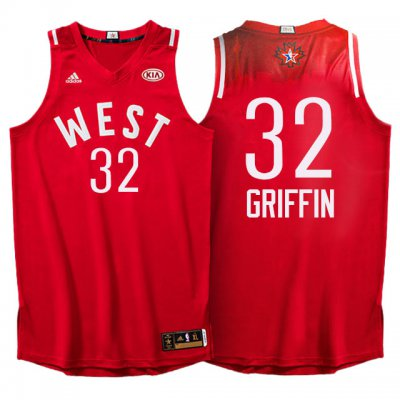 High Quality 2016 All Star Clothing Western Conference Clippers #32 Blake Griffin Red TDM319