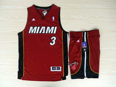 Hot Cheap Sale Revolution 30 Shorts Miami Gear Heat #3 Dwyane Wade Swingman Red Rev Basketball Suits LDF4517
