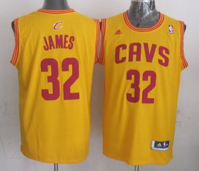 Hot Online Gold LeBron James Swingman Alternate Gear Cleveland Cavaliers 32 CHI1174