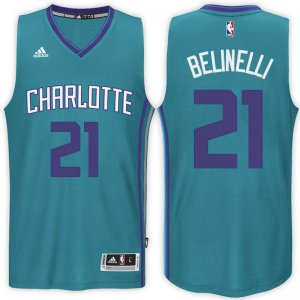 Hot Sale Charlotte Hornets #21 Marco Belinelli 2016 17 Alternate Teal Swingman Jerseys VUV614