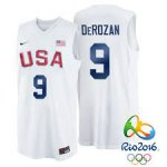 Hot Sale Cheap Apparel Rio 2016 Olympics USA Team #9 DeMar DeRozan White Basketball FVW3993