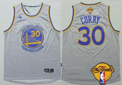 Hot Sale Cheap Golden State Warriors Gear #30 Stephen Curry Gray 2016 The Finals Patch BGQ25