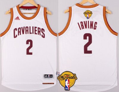 Latest Arrival Merchandise Cleveland Cavaliers #2 Kyrie Irving 2016 The Finals Patch White KXT270