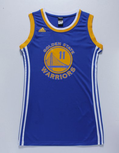 New trend Golden Jerseys State Warriors #11 blue Women DRESS IEO4271
