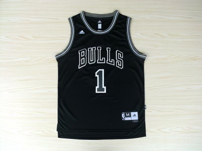 Official Derrick Rose #1 black bulls Basketball BKI849