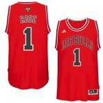Official Gear Mens Chicago Bulls Derrick Rose Red 2014 15 Noches Enebea Swingman Road DNL762