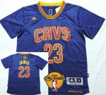 Online Shopping Cleveland Cavaliers #23 LeBron James 2016 The Finals Patch Navy Blue Short Apparel Sleeved NMB277
