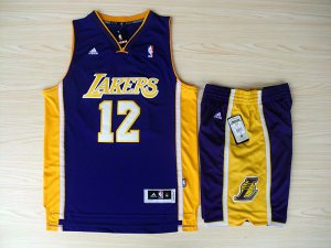 Shop Discount Revolution 30 Shorts Los Angeles Lakers #12 Dwight Howard Swingman Purple Home Rev Jersey Basketball Suits YQI4507