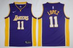 The Latest Merchandise Los Angeles Lakers #11 Brook Lopez Purple Mens Nike Swingman MPM2318