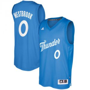 Top Quality Oklahoma City Thunder #0 Russell Westbrook Blue 2016 Christmas Day Swingman Clothing BDT971