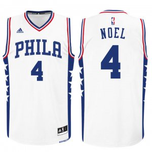easy to buy 2015 draft 76ers Apparel #4 nerlens noel white XLC3256
