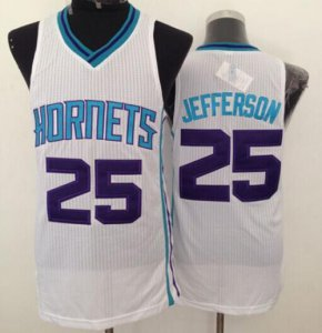 the balance Revolution Merchandise 30 Hornets #25 Al Jefferson White Stitched MEQ650