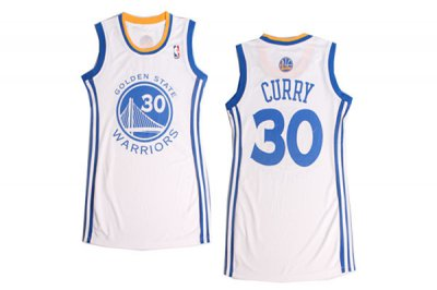 Best #30 Stephen Curry Women Sexy Dress Blue White Basketball Gear 2014 30 Curry Lady Skirt Dress QIM4376
