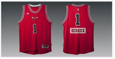 Cheap Hot Sale Mens Chicago Bulls Derrick Rose Red 2014 15 Christmas Clothing Day Swingman Road PAY792