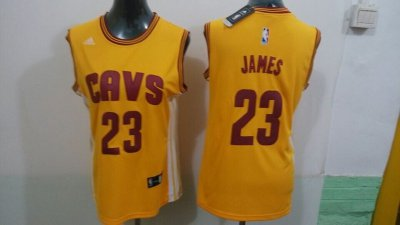 Chic 2015 Women Clothing Cleveland Cavaliers #23 James yellow JJN4299