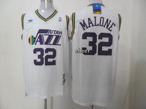 Chic Throwback Utah Jazz Basketball #32 malone white VPP4124