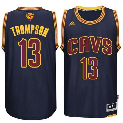 Exquisite appearance Cleveland NBA Cavaliers #13 Tristan Thompson 2015 16 Finals Navy Blue MRP261