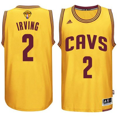 Fashion Cleveland Cavaliers #2 Kyrie Irving 2015 16 Finals NBA Gold PWL264