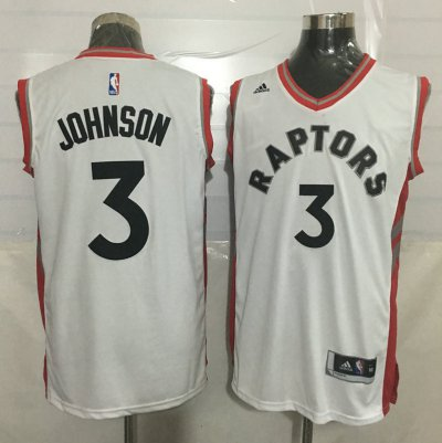 Fast Shipping #3 Johnson Toronto Apparel Raptors white WLJ3930
