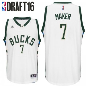 Find Quality Products 2016 Draft Milwaukee Bucks #7 Basketball Thon Maker Home White Swingman GXJ2805