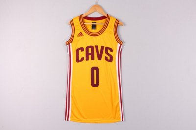 Full of charm Jerseys Cleveland Cavaliers 0 Kevin Love yellow dress YNJ4332
