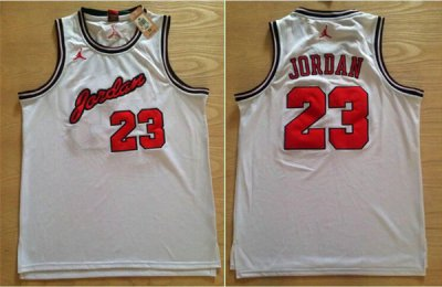 Hot Deal Jersey Michael Jordan Commemorative Edition Chicago #23 Michael Jordan Anniversary White DZR734