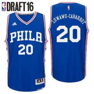 Hot Deal Philadelphia 76ers Clothing #20 Timothe Luwawu Cabarrot Road Royal Swingman KFW3239