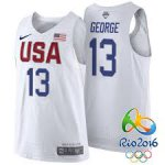 New Cheap 2016 Olympics USA Team Jersey #13 Paul George White DAL3984