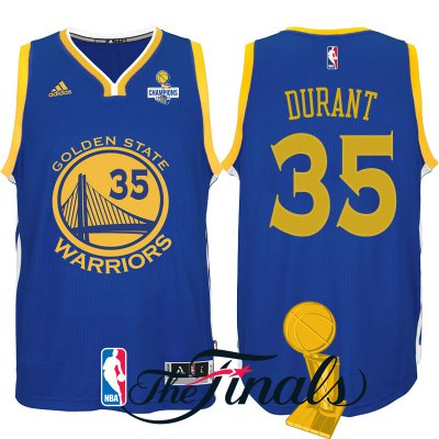 Novelty 2017 Finals Merchandise Champions Patch Golden State Warriors  35  Kevin Durant Royal Swingman HSO1583 009cb5892