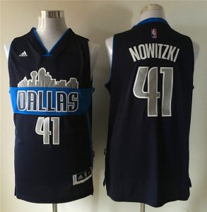 Novelty Men's NBA Dallas Mavericks Dirk Nowitzki #41 Alternate Navy Replica SGU1282