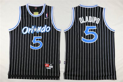 On Sale Orlando Gear Magic #5 Victor Oladipo Black Throwback Stitched FXD3146