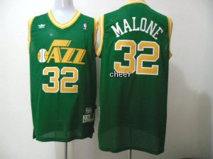On the fabric Throwback Utah Jazz Basketball #32 malone green CWB4129