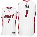 Online Sale Father's Day Gift Miami Heat #1 Dad Logo White Merchandise Home Swingman UIU2630
