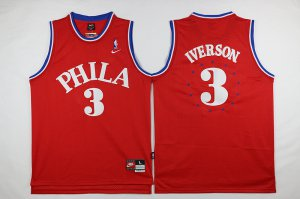 Quick-drying fabric Philadelphia 76ers #3 Iverson red 2016 The Season Clothing CWH3262