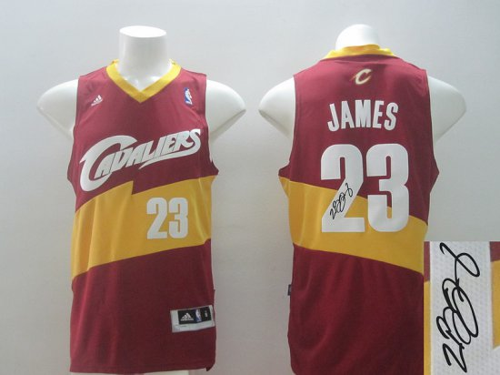 new arrival 94352 1aa25 Top Quality Autographed Cleveland Cavaliers Basketball #23 ...